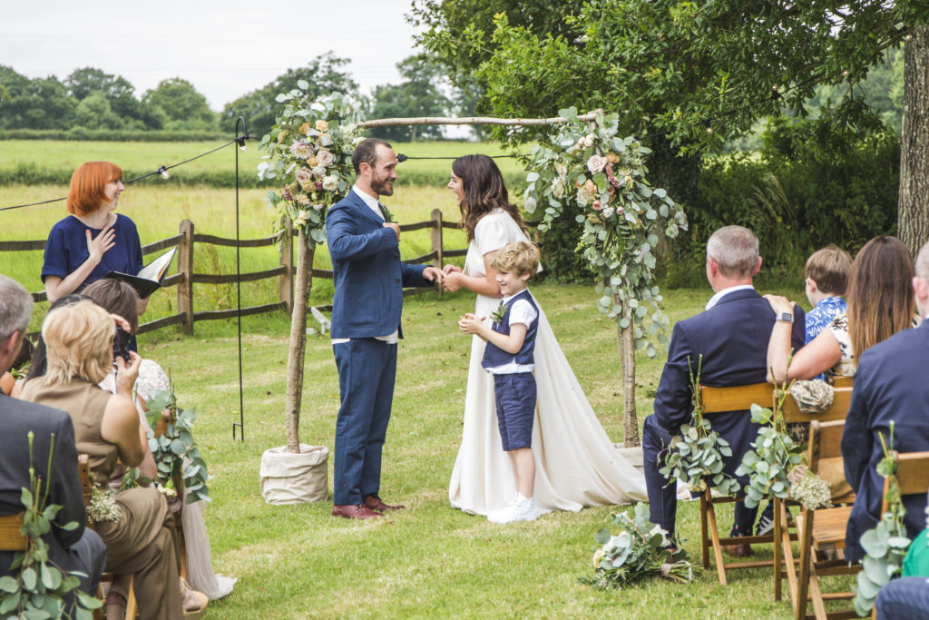 Celebrant London - Katie and Liv wedding at Stockbridge Barn Farm